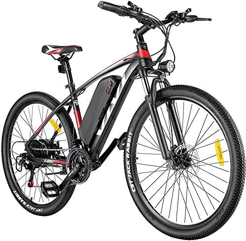 "VIVI Ebike Mountainbike, 27,5\"" Elektrofahrrad Pedelec, 350W E Bike Herren und Damen mit Abnehmbarer 10,4 Ah Lithium-Ionen-Batterie, 21-Gang-Getriebe"