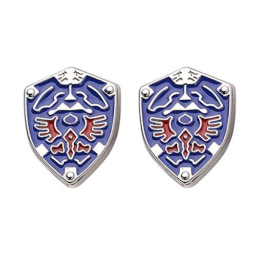 Patch Nation Legend of Zelda Triforce Shield Cosplay Cufflinks Manschettenknöpfe