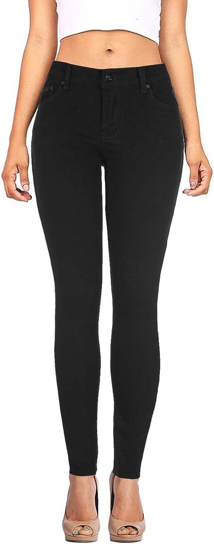 DaCoCo Women's Stretchy 5 Pocket Medium Denim Skinny Jeans