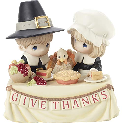 Precious Moments 201034 Grateful to Give Thanks with You Limited Edition Bisque Porcelain Figurine, One Size, Multicolored