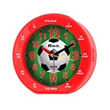 Childrens Red Football Soccer Alarm Clock