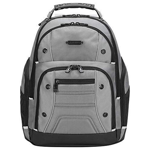 Targus Drifter II mochila con 3 grandes compartimentos, mochila para ordenador de hasta 16 pulgadas, mochila impermeable con correas acolchadas - gris, TBB23804GL