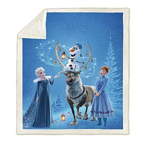 SK-YBB Kinder Decken ?Frozen Fleecedecke Decke? Anna Und ELSA Kuscheldecke? 100prozent Mikrofaser for Bettcouch & wolldecke (Frozen8,130cm*150cm)