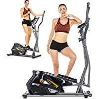 Elliptical Machine with 10-Level Resistance and LCD Monitor for Home Use