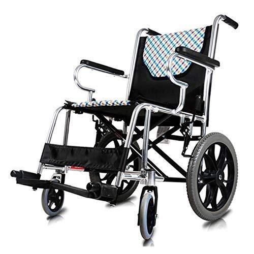 HYL Rollstühle Rollstuhl faltbar - Rollstühle Falten leicht - Comfort Standard Rollstuhl - Schreibtisch Lange Arme und anhebbaren Fußrasten Sorgen for zusätzlichen Komfort