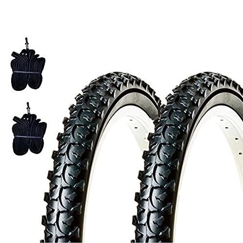 Ecovelò EBA20MBE 2 COPERTONI 20 X 1.95 (50-406) + CAMERE Pneumatici in Gomma MTB Bambino Mountain Bike Bici Bicicletta