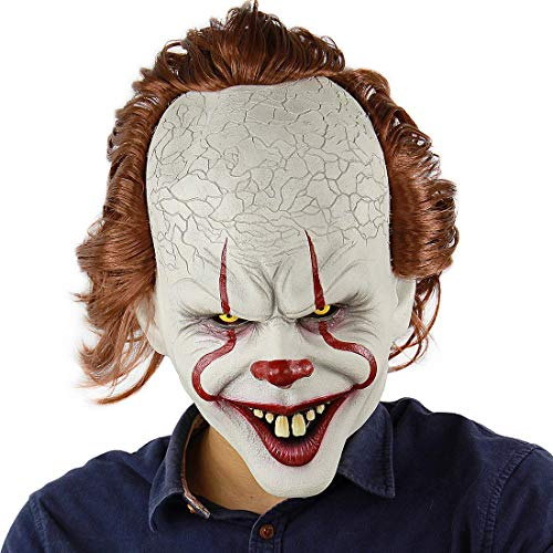LANCOLD beängstigend Clown Maske Erwachsene Horror Clown Dämon Halloween Cosplay Kostüm Masken