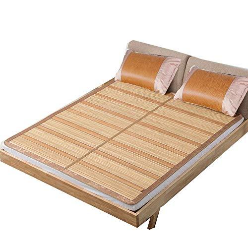PIVFEDQX Colchón Cooling Topper Colchoneta para Dormir de Verano Transpirable Resistente al Desgaste Antideslizante Suave Plegable Reversible - 2 Fundas de cojín (Tamaño: 180X200CM)