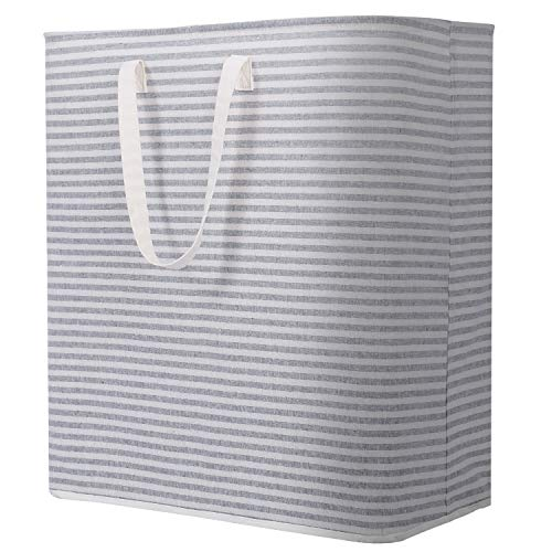 Lifewit 100L Freestanding Laundry Hamper Collapsible Extra Large Clothes Basket with Easy Carry Extended Handles for Clothes Toys, Grey