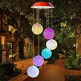 Solar Windspiel Licht für Draußen,mit Farbwechsel ,Solar Wind Chime für Haus /Party /Patio/Nacht Garten Dekoration,Kristallkugel