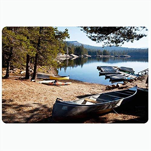 Alfombra de baño para baño Alfombrillas antideslizantes Agua para botes Llegar al lago Pacífica Sierra Nevada California Viaje Trabajo Naturaleza Barco Flotador Parques Decoración de felpa al aire lib