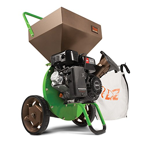 Tazz 18493 K32 Heavy Duty 212cc Gas Powered 4 Cycle Viper Engine 3:1 Capable Multi-Function Wood Chipper Shredder 3' Max Wood Diameter Capacity, 5 Year...
