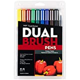 Tombow 56167 Dual Brush Pen Art Markers, Primary,...