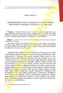 Considerazioni sulla presenza e distribuzione dell'Istrice (Hystrix cristata L.) in Toscana.