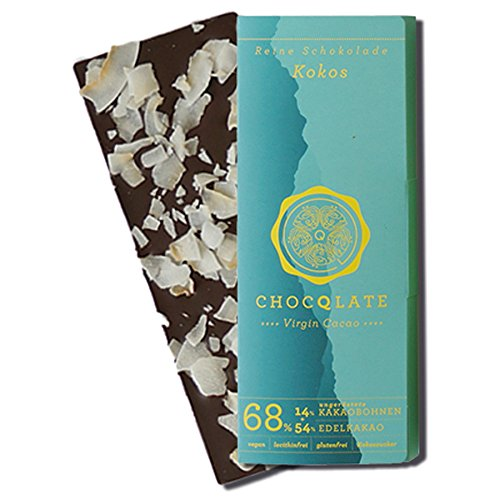 CHOCQLATE Virgin Cacao Bio Schokolade Kokos 75 g