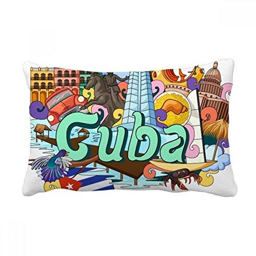 DIYthinker Capa de almofada Guantanamo Trinidad Cuba Graffiti para decoração de casa