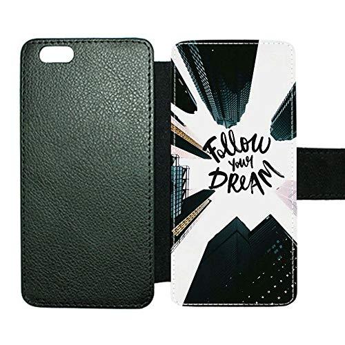 Estuches De La Funda Niña Usar como iPhone 6 6S con Follow Your Dream Hipster Choose Design 108-1