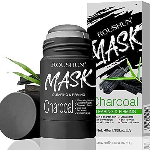 BIUBIULOVE Mascarilla de Arcilla purificadora de carbón VC/Bamboo: para una Limpieza Profunda, eliminación de Puntos Negros para Hombres y Mujeres, Control de Aceite antiacné y Limpieza de poros