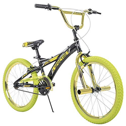 20' Huffy Spectre Boys' BMX Bike, Ages 5-9, Rider Height 44-56', Acid Green (23089)