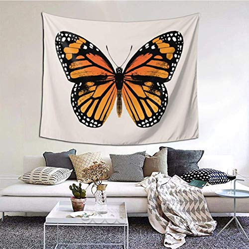 Tapestry Wall Hanging,Monarch Butterfly Tapestry 60X50 Inches Boho Wall Art Tapestries Hanging for Dorm Room Living Home Decorative