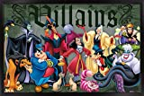 Trends International Disney Villains - Group Pose Wall Poster, 22.375' x 34', Black Framed Version