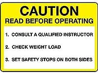 ヴィンテージアルミニウムレトロメタルサイン注意注意オペラgの前に読んでくださいインストラクター-金属のポスタープラークの警告サイン鉄の絵画アートの装飾バーカフェガーデンベッドルームオフィスホテル