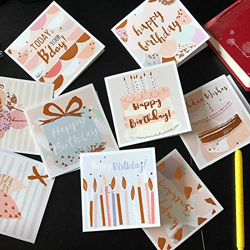 EPCHOO 18 Stücke Grußkarten Geburtstag, Geburtstagskarten mit Umschlägen Alles Gute zum Geburtstag Karten für Frauen, Kinder und Erwachsene