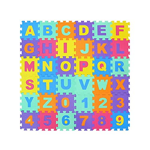Shop-PEJ Suave 36 unids/Lote EVA Espuma Play Puzzle Mat Color Crawling Alfombra Alfombras Enclavamiento Piso Tiles Protectores Soft Niños Patínetas Decoración Hogar (Color : 36PCS EVA)