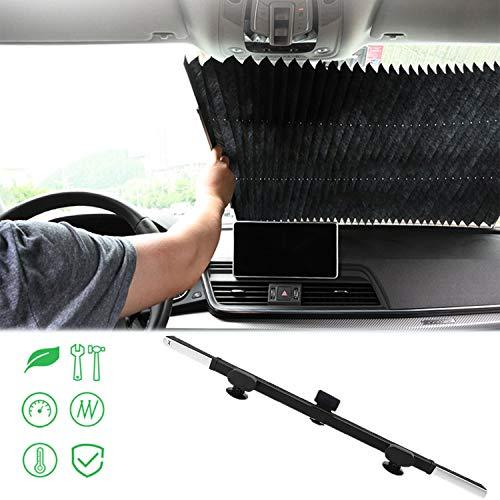 FancyAuto Automatische Falten Sonnenschirm für Auto Windschutzscheibe Blöcke UV Strahlen Schutz Saugnapf Kühlung Sonnenschutz Auto Windschutzscheibe Teleskop Sucker Sonnenschirm (80 cm)