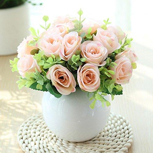 Jnseaol Kunstblumen Sehr Realistische Keramik Topf Künstliche Blumen Hochzeit Party Küche Familie Gartenfensterbank Dekoration Diy Topfpflanzen Champagne-23