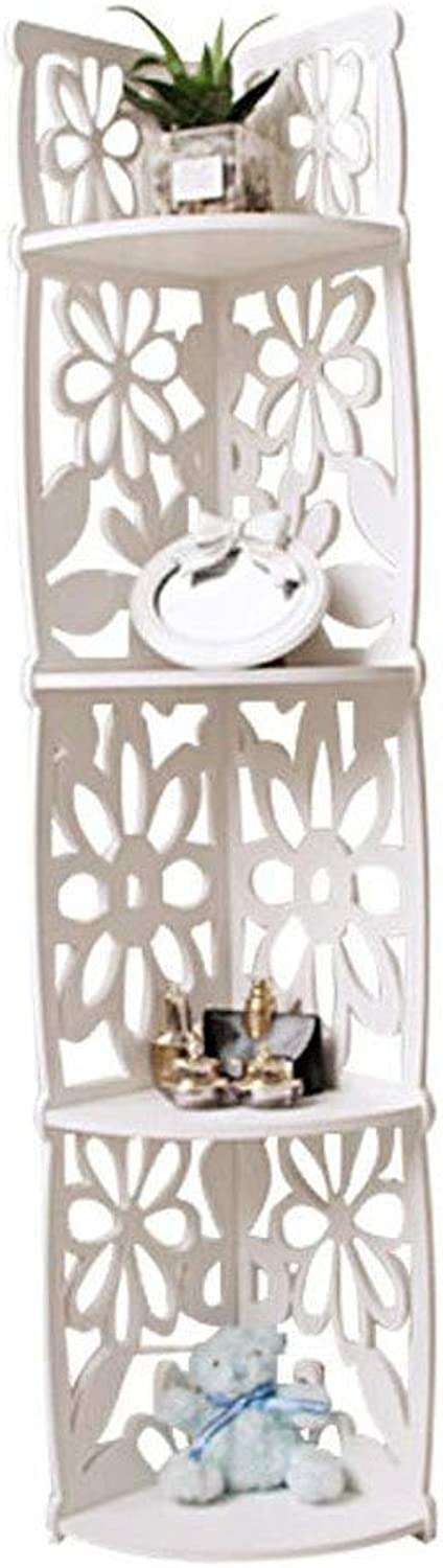 Yunfeng Bookshelf,Floor-Standing Multifunctional Frame Carved Flowers and Trees Plastic Plate Shelf Storage can be Washed shoes Rack