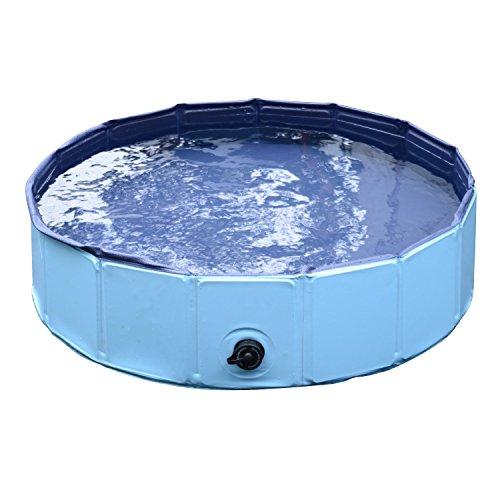 Pawhut Hundebadewanne Hundepool Badewanne Swimmingpool Wasserbecken für Hunde 80 x 20 cm