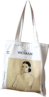 anaan Woman Borsa tote Borsa con tasca interna a Tracolla cotone e tela con manici Pittura stampa Borsa shopper decorare r...