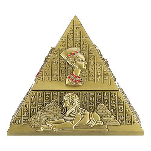 WOUPY Cenicero de Cigarrillos, cenicero, Adorno casero Innovador de Metal para Fumar Set de Regalo para Fumar(Bronze)
