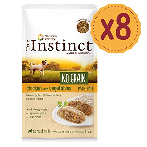 True Instinct No Grain Pollo - Paté - Mini - Adult 150G X 8-1200 Gr
