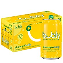 bubly Sparkling Water, Pineapple, 12oz Cans, (Pack of 8)