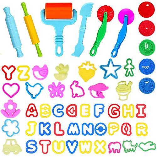Faburo 57 piezas de herramientas de amasado