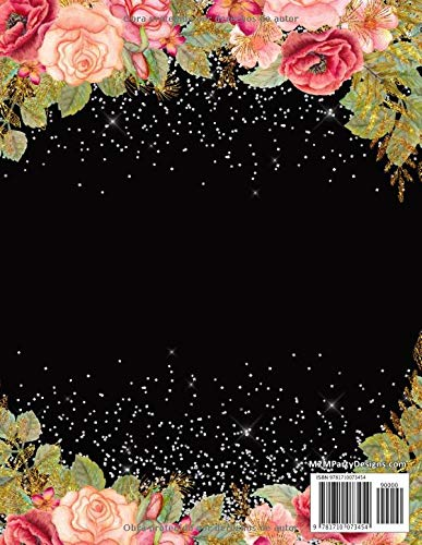Planificador y Agenda de Mis Quince Anos: Organizador y Cuaderno de Quinceañera, París Flores Rosa, Blanco y Negro