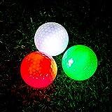 THIODOON Palline da Golf 6 Pezzi LED Light Up Palline da Golf Night Glow Pallone da Golf Perfetto per Il Golf Scatto a Distanza Dark Night Sport Pratica Formazione (3 confezioni: rosso verde e bianco)