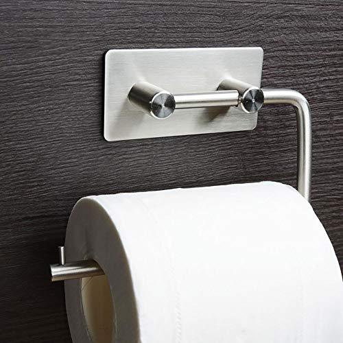 Toilettenpapierhalter mit Selbstklebend Wandhaken Küche Badezimmer Klebehaken Edelstahl Handtuchhalter Wasserdicht Nein Bohren 6 Stück WC Zubehör (1 Stück)