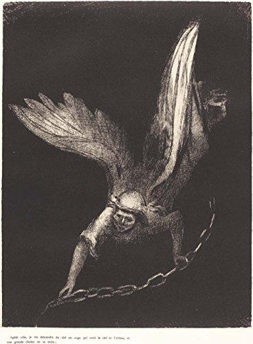 Het Museum Outlet - En ik zag een engel komen uit de hemel, met de sleutel van de bodemloze put en een grote keten in zijn hand, 1899 - A3 Poster