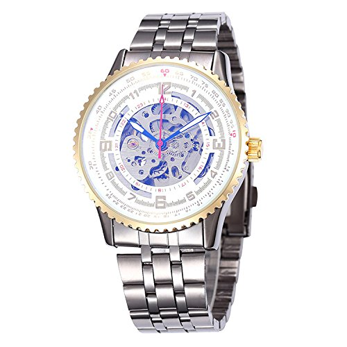 SJXIN Hochwertige mechanische Uhr, Shenhua / 9500J Herren hohlen großen Zifferblatt automatische mechanische Uhr (Color : 4)