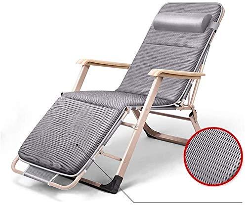 OESFLas sillas sillón reclinable Plegable al Aire Libre Desmontable Apoyo for la Cabeza, Viaje, hogar, al Aire Libre, reclinable portátil, Almohada Opcionales (Color : C)