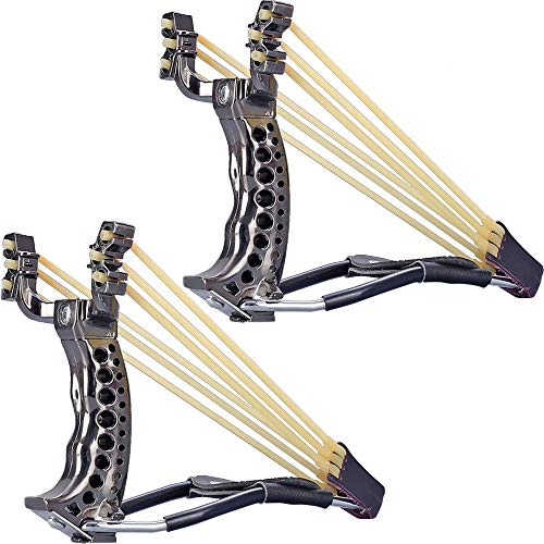 Inscape Data 2pcs Heavy Duty Adjustable Wrist Brace Hunting Catapult,High Velocity Catapult Slingshot Slingshots