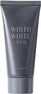日焼け止め メンズ 【 SPF50 + PA ++++ 】 ベタつかない ジェル タイプ フィス ホワイト 「 ウォータープルーフ ロングUVA 対応 」「 無添加 4種 敏感肌 男性 」「 日本製 せっけん で落とせる 」 50g