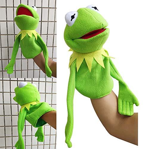 SesamstraßE FröSche Puppe,Kermit Frosch PlüSch Spielzeug,Weiche Puppe,Frosch Handpuppen PlüSchtiere,FüR Kinder Geburtstag Geschenk,Weihnachtsferien Geschenk FüR Kinder 40cm/ Grün