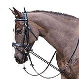 ZANGAO Accesorios hípicos Cuerda 3m Caballo Riendas elástico Cuello Negro Camilla Hípica Completa Brida Strape Resistente al Desgaste (Color : Black)