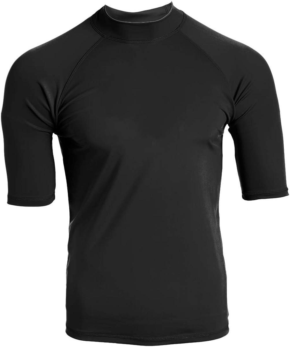 Kanu Surf Mens Fiji UPF 50 Short Sleeve Sun Protective Rashguard Swim Shirt