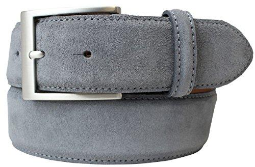 Gürtel aus Veloursleder 4,0 cm | Velour-Ledergürtel für Damen Herren 40mm | Wildleder-Gürtel 4cm in Schwarz Braun Grau Blau Dunkelbraun