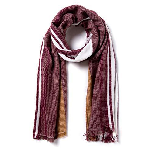CTZNL Winter-Schal-Frauen-warme Foulard-Luxusplaid-Schals Arbeiten beiläufige Kaschmir-Schals um,S9-05 210x60cm